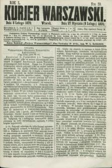 Kurjer Warszawski. R.50, Nro 29 (8 lutego 1870) + dod.