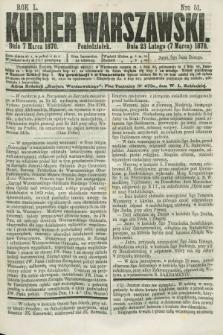 Kurjer Warszawski. R.50, Nro 51 (7 marca 1870) + dod.