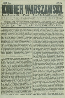 Kurjer Warszawski. R.51, Nro 2 (3 stycznia 1871) + dod.