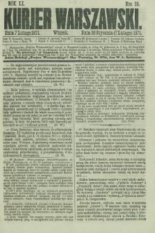 Kurjer Warszawski. R.51, Nro 29 (7 lutego 1871) + dod.