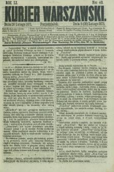 Kurjer Warszawski. R.51, Nro 40 (20 lutego 1871) + dod.