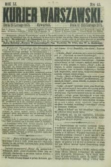Kurjer Warszawski. R.51, Nro 43 (23 lutego 1871) + dod.