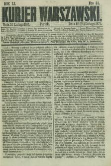 Kurjer Warszawski. R.51, Nro 44 (24 lutego 1871) + dod.