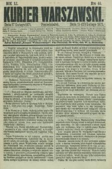 Kurjer Warszawski. R.51, Nro 46 (27 lutego 1871) + dod.