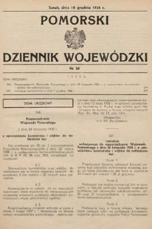 Pomorski Dziennik Wojewódzki. 1936, nr26