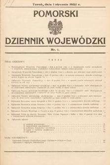 Pomorski Dziennik Wojewódzki. 1935, nr1