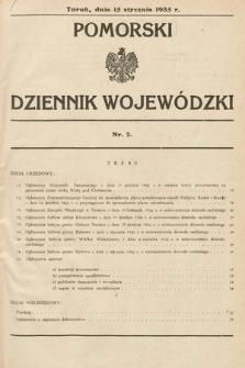 Pomorski Dziennik Wojewódzki. 1935, nr2