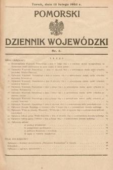 Pomorski Dziennik Wojewódzki. 1935, nr4