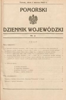 Pomorski Dziennik Wojewódzki. 1935, nr5