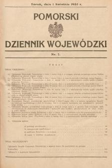 Pomorski Dziennik Wojewódzki. 1935, nr7