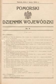 Pomorski Dziennik Wojewódzki. 1935, nr9