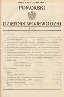 Pomorski Dziennik Wojewódzki. 1935, nr11
