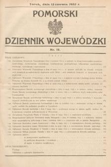 Pomorski Dziennik Wojewódzki. 1935, nr12