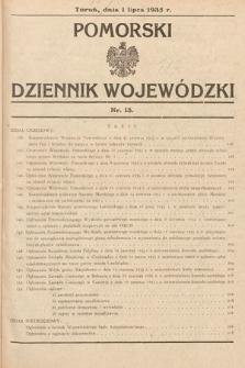 Pomorski Dziennik Wojewódzki. 1935, nr13