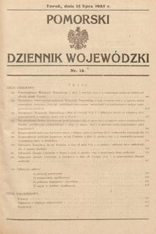 Pomorski Dziennik Wojewódzki. 1935, nr14