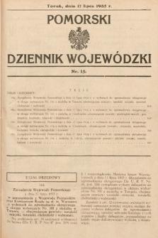Pomorski Dziennik Wojewódzki. 1935, nr15