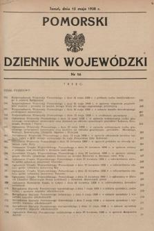 Pomorski Dziennik Wojewódzki. 1938, nr16