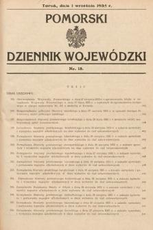 Pomorski Dziennik Wojewódzki. 1935, nr18