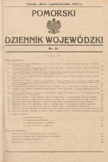 Pomorski Dziennik Wojewódzki. 1935, nr21