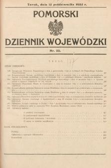 Pomorski Dziennik Wojewódzki. 1935, nr22