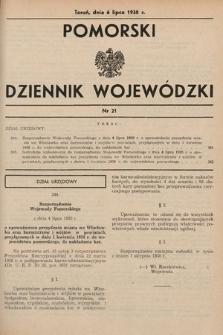 Pomorski Dziennik Wojewódzki. 1938, nr21