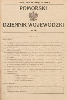 Pomorski Dziennik Wojewódzki. 1935, nr24