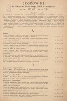 Dziennik Urzędowy Wojewódzkiej Rady Narodowej w Bydgoszczy. 1968, skorowidz alfabetyczny