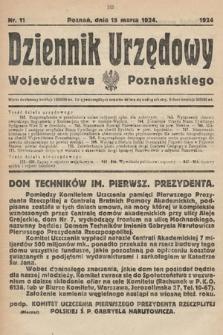 Dziennik Urzędowy Województwa Poznańskiego. 1924, nr11