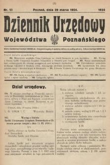 Dziennik Urzędowy Województwa Poznańskiego. 1924, nr13