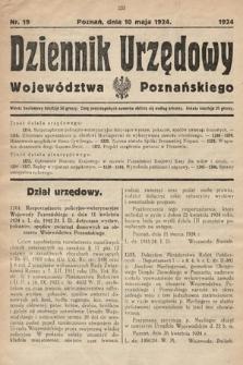 Dziennik Urzędowy Województwa Poznańskiego. 1924, nr19