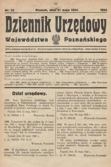 Dziennik Urzędowy Województwa Poznańskiego. 1924, nr22