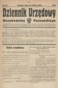 Dziennik Urzędowy Województwa Poznańskiego. 1924, nr24