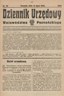Dziennik Urzędowy Województwa Poznańskiego. 1924, nr28