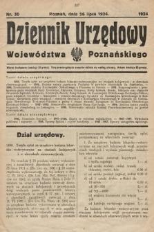 Dziennik Urzędowy Województwa Poznańskiego. 1924, nr30