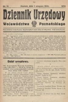 Dziennik Urzędowy Województwa Poznańskiego. 1924, nr31