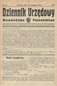 Dziennik Urzędowy Województwa Poznańskiego. 1924, nr34