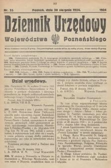 Dziennik Urzędowy Województwa Poznańskiego. 1924, nr35