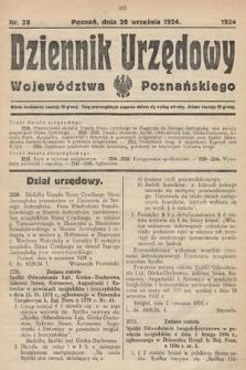 Dziennik Urzędowy Województwa Poznańskiego. 1924, nr38