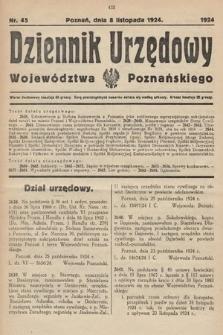 Dziennik Urzędowy Województwa Poznańskiego. 1924, nr45
