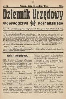 Dziennik Urzędowy Województwa Poznańskiego. 1924, nr50