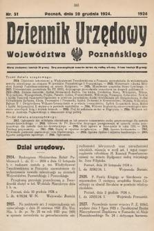 Dziennik Urzędowy Województwa Poznańskiego. 1924, nr51