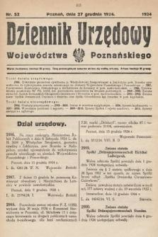 Dziennik Urzędowy Województwa Poznańskiego. 1924, nr52