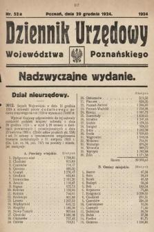 Dziennik Urzędowy Województwa Poznańskiego. 1924, nr 52a