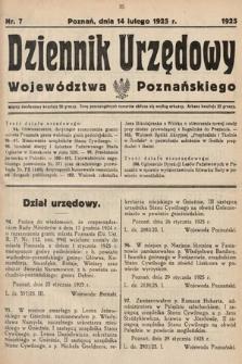 Dziennik Urzędowy Województwa Poznańskiego. 1925, nr7