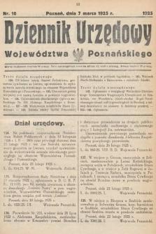 Dziennik Urzędowy Województwa Poznańskiego. 1925, nr10
