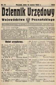 Dziennik Urzędowy Województwa Poznańskiego. 1925, nr11