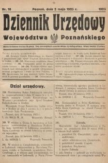 Dziennik Urzędowy Województwa Poznańskiego. 1925, nr18