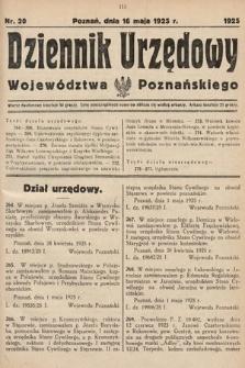 Dziennik Urzędowy Województwa Poznańskiego. 1925, nr20