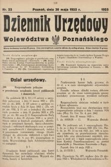 Dziennik Urzędowy Województwa Poznańskiego. 1925, nr22