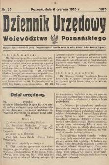 Dziennik Urzędowy Województwa Poznańskiego. 1925, nr23